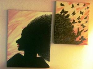 Haare im Wind Malerei